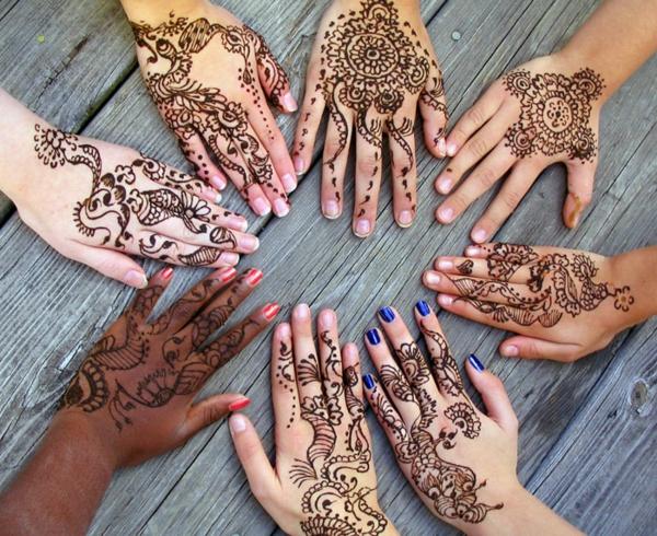 henna muster finger hände designs
