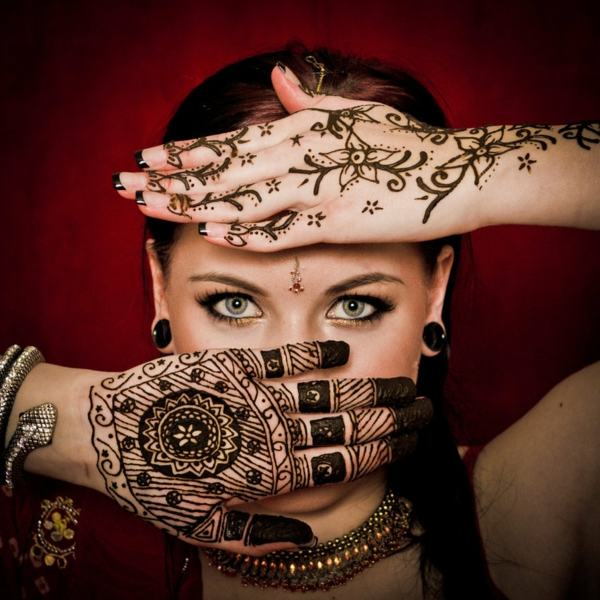 Henna Muster Tradition Bedeutung Modetrend