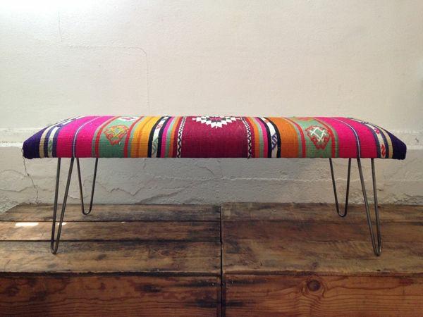 innendesign mexikanische deko bank traditionelle muster