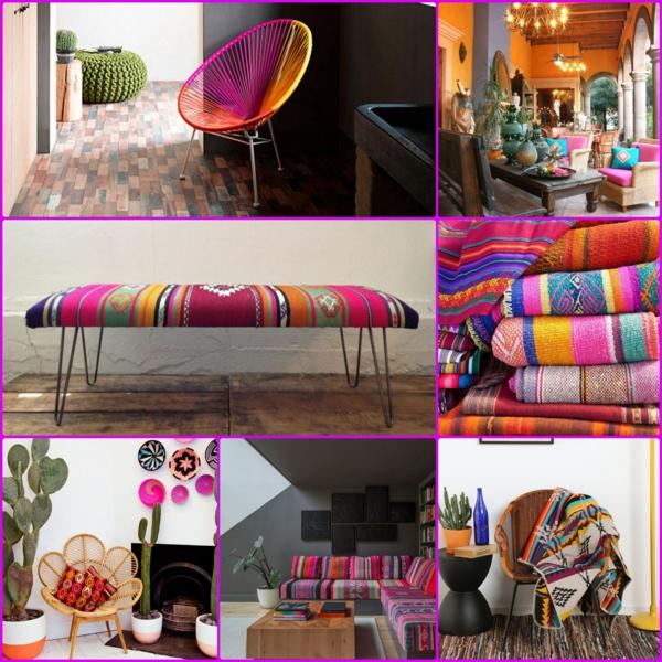 innendesign mexikanische deko ideen farbgestaltung