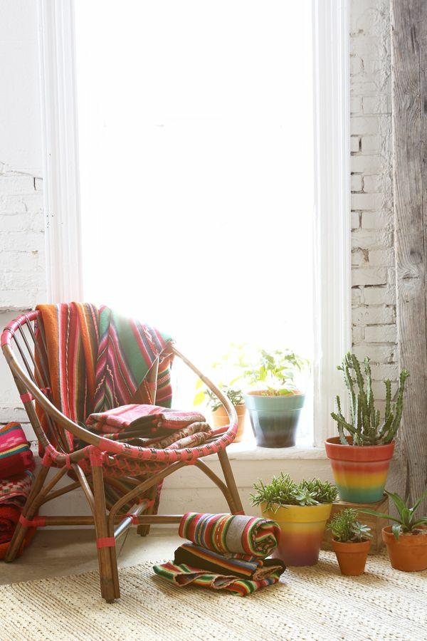 innendesign mexikanische deko ideen kakteenarten decken gestreift farbig