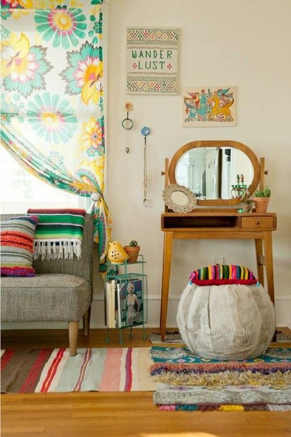interieur design mexikanische deko ideen läufer und decken