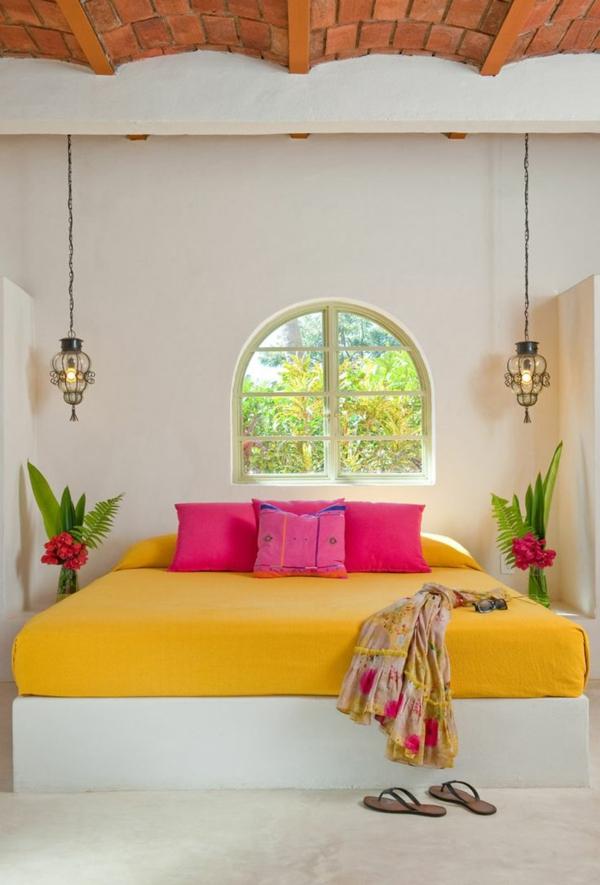 innendesign mexikanische deko ideen schlafzimmer farben
