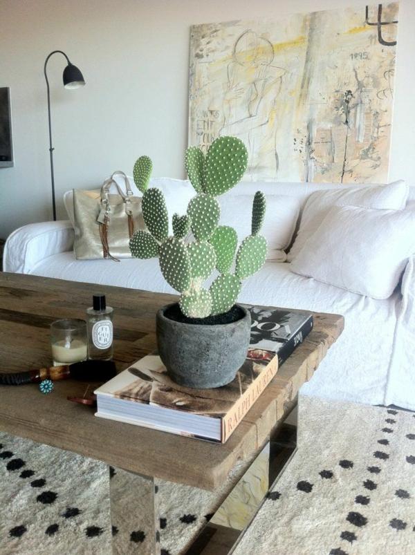 innendesign mexikanische deko kaktus zimmerpflanzen