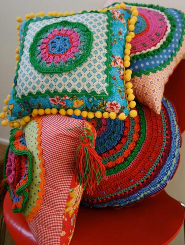 innendesign mexikanische deko kissen muster