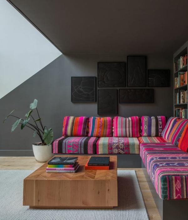 Innendesign im mexikanischen stil grell und effektvoll soll es sein - Innendesign wohnzimmer ...