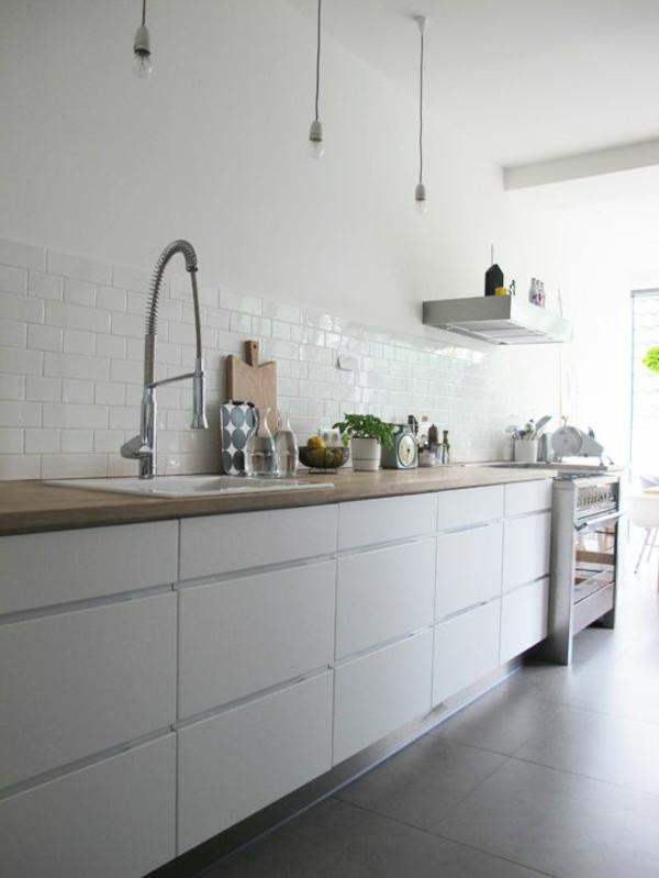 küchenideen schöne wohnideen küche pendelleuchten fliesen