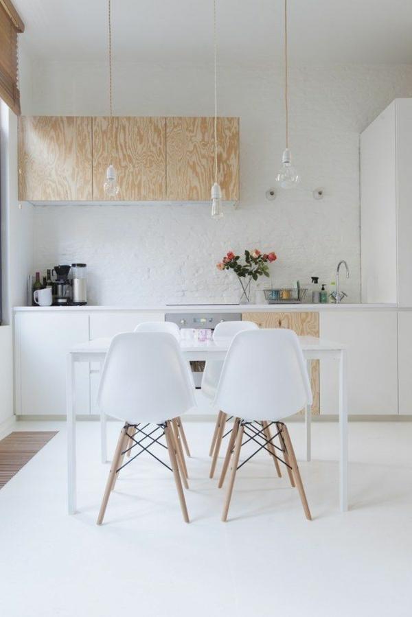 küchenideen tolle küchenschränke pendelleuchten weißer esstisch