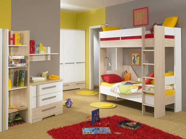 kinderzimmer gestalten farbige ideen roter teppich