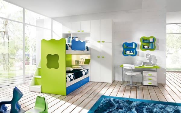kinderzimmer gestalten jungenzimmer blau grün