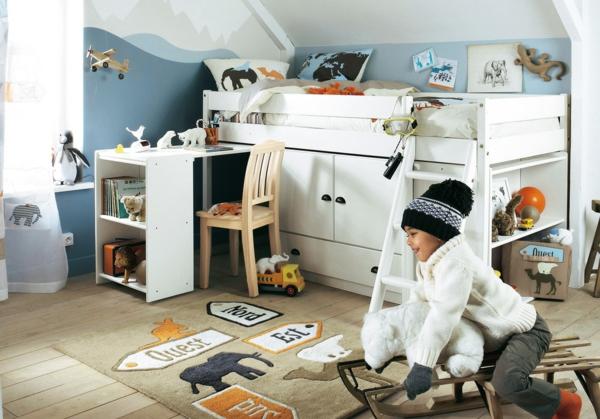 kinderzimmer gestalten jungen schöne deko toller teppich