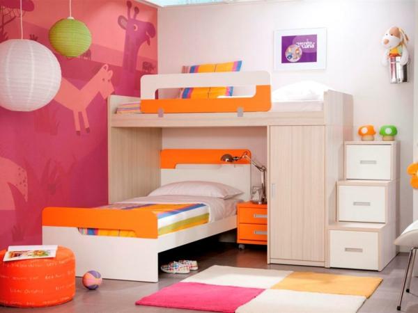 kinderzimmer gestalten krasse farben funktionale möbel