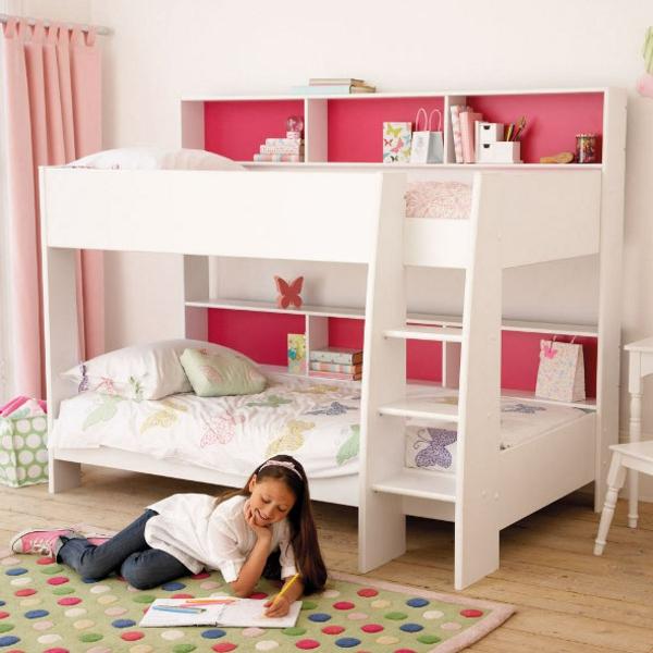 kinderzimmer gestalten mädchenzimmer farbiger teppich punkte