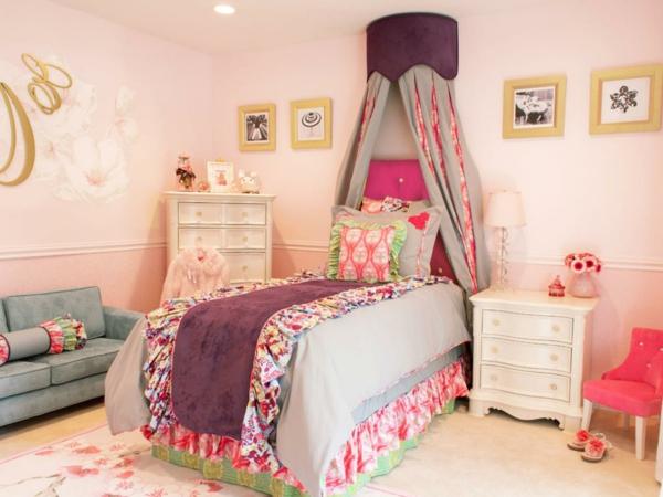 kinderzimmer gestalten mädchenzimmer nachttisch schöne wandgestaltung
