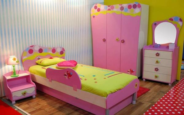 kinderzimmer gestalten mädchenzimmer rosa grün niedlich