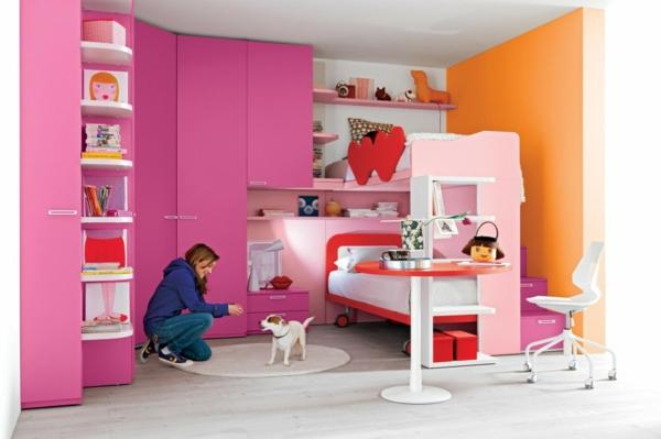Kinderzimmer Gestalten Mädchenzimmer Rosa Kleiderschrank
