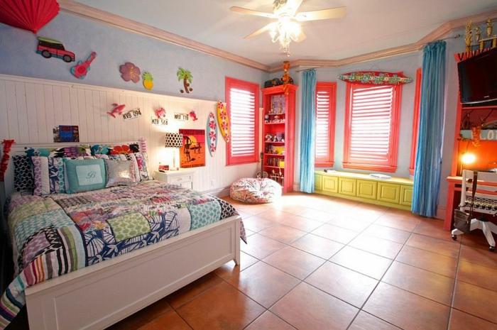 kinderzimmer gestalten tropischer stil farbgestaltung ideen