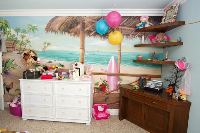 kinderzimmer gestalten tropischer stil spielecke einrichten