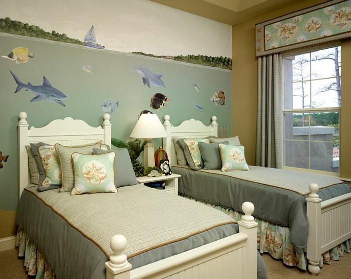 kinderzimmer gestalten und dabei maritime elemente einsetzen. Black Bedroom Furniture Sets. Home Design Ideas