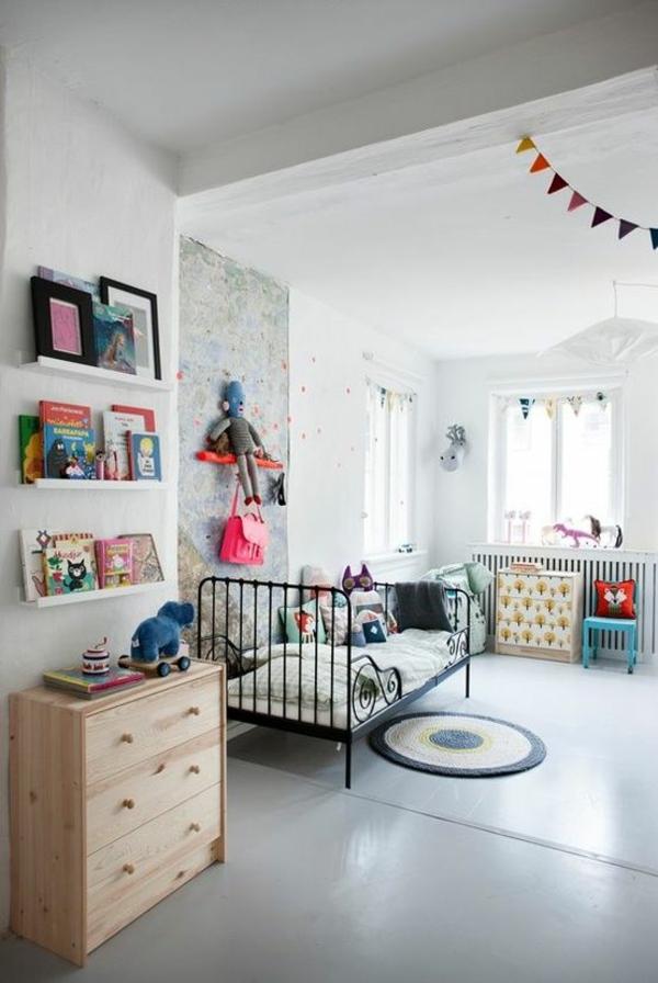 kinderzimmer gestalten weißes interieur farbige deko