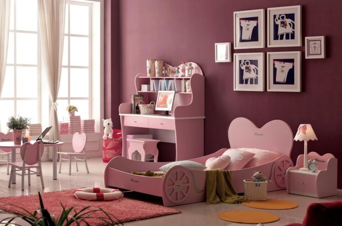 kinderzimmer mädchen dekokissen rosa interieur