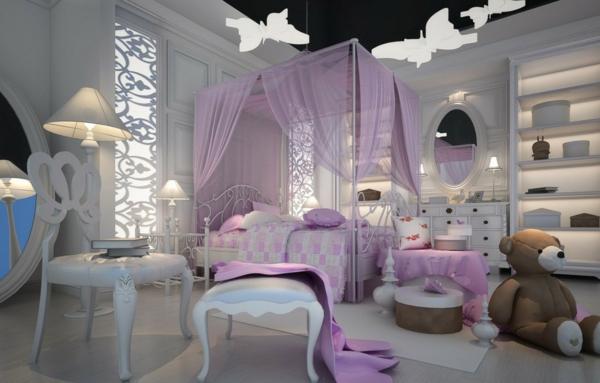 kinderzimmergestaltung mädchenzimmer ideen vintage look rosa akzente