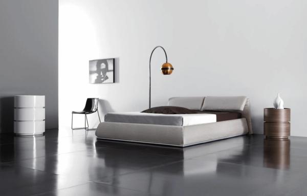 komplettes schlafzimmer ergonomisches bett kopfteil minimalistisch