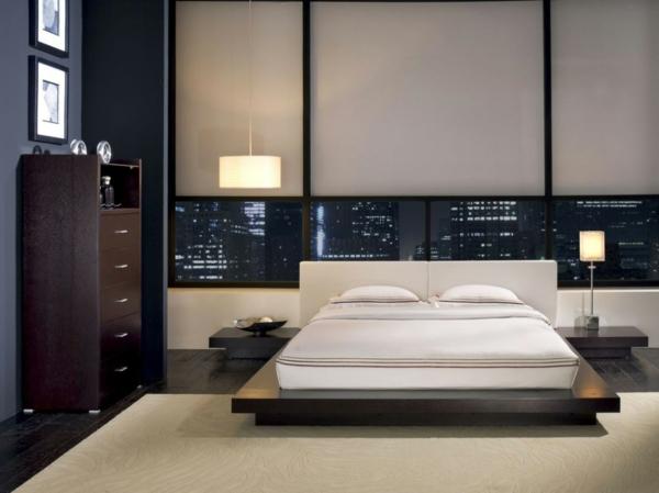 komplettes schlafzimmer gedämpftes licht tischleuchten
