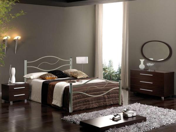komplettes schlafzimmer maskulin dunkle nuancen
