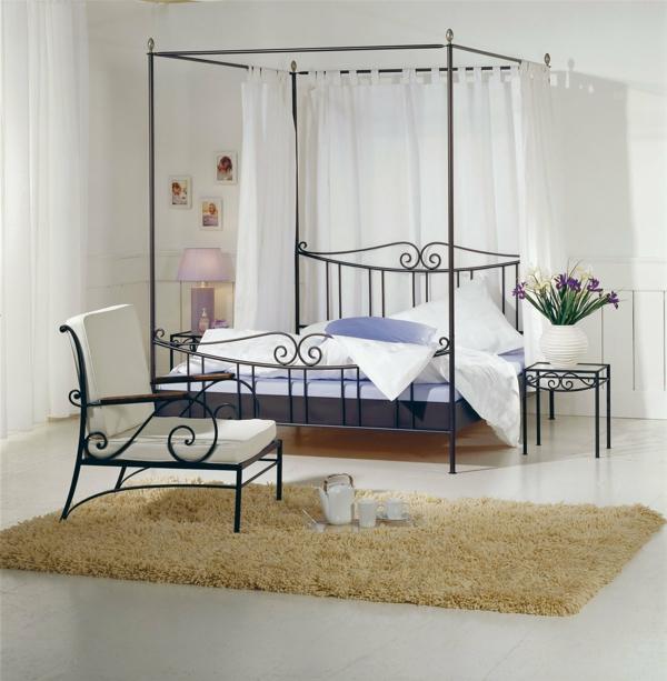 komplettes schlafzimmer schmiedeeisen bett möbel