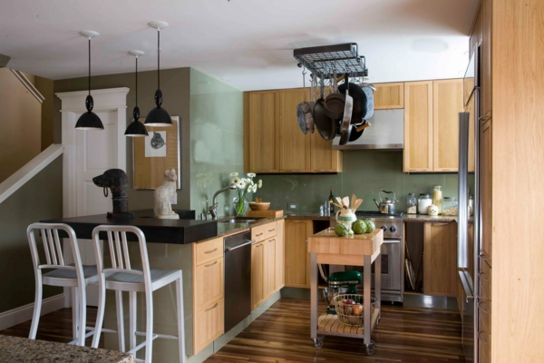 moderne küchen attraktive deko kücheninsel blumen