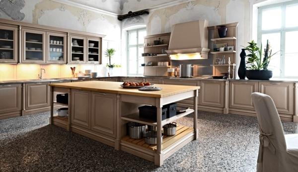 moderne küchen kücheninsel schöne wandgestaltung