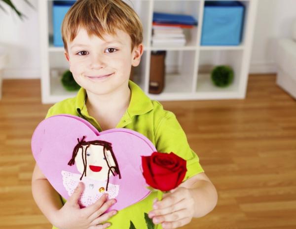 muttertagsgeschenke basteln rose herz