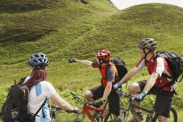 nachhaltiger tourismus fahrrad fahren tour