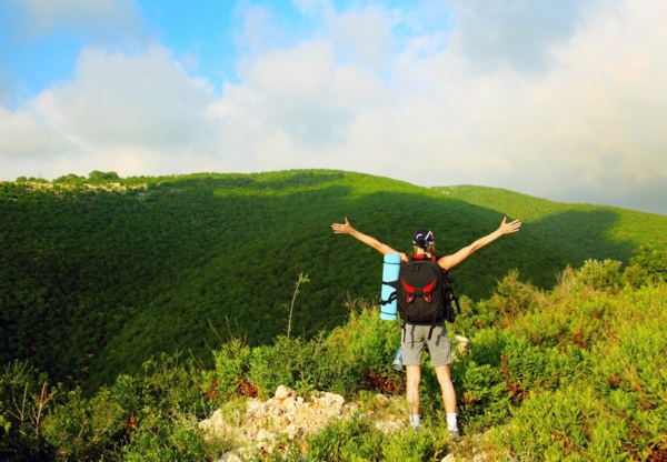 nachhaltiger tourismus zelten wandern