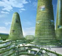 Organische Architektur für eine nachhaltige, grüne Zukunft