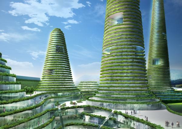 organische architektur grüne vegetation