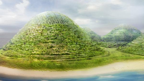 organische architektur ovale pyramiden