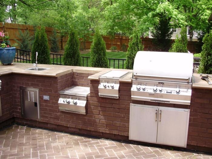 Sommerküche Outdoor : Sommerküche outdoor eine outdoor küche design küche hat