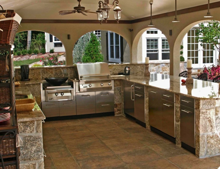 Outdoor Küche Mit Gas : Outdoor küche für den sommer u die verschiedenen aspekte