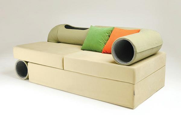 plegeleichte haustiere katze hund tunel röhre sofa