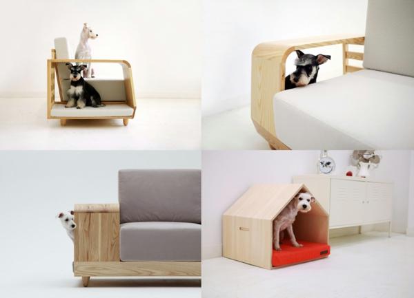 plegeleichte haustiere sofa holz gepolstert hunde