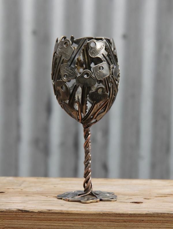 recycling basteln alte schüssel metall glas
