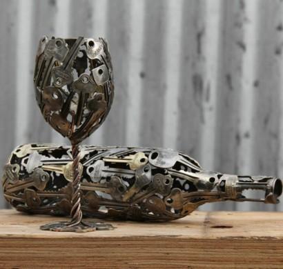 Recycling basteln nachhaltige kunst aus alten m nzen und - Coole stehlampen ...