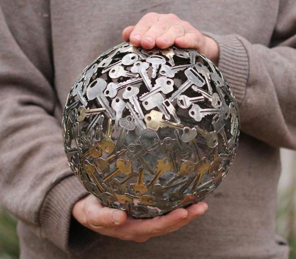 recycling basteln sphäre alte schlüssel