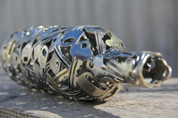 recycling basteln wohartikel alte münzen schlüssel