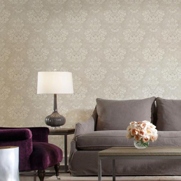 Graue Tapete Mit Muster ~ Innovative Idee von Innenarchitektur und Möbeln