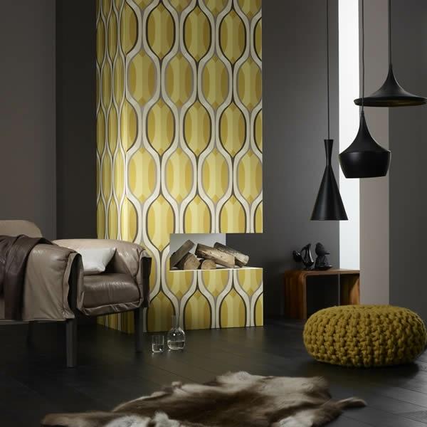 Grafische Tapeten Muster : retro tapeten ovale geometrische grafische muster