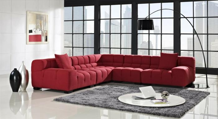 rotes sofa ins innendesign einbeziehen inspirierende. Black Bedroom Furniture Sets. Home Design Ideas