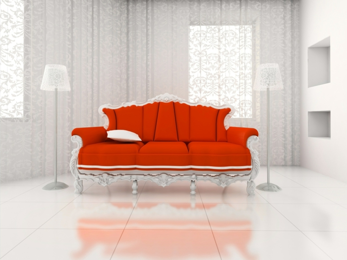 rotes sofa ins innendesign einbeziehen inspirierende. Black Bedroom Furniture Sets. Home Design Ideas